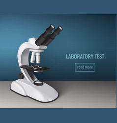 Laboratory test realistic background vector
