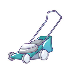 lawnmower icon cartoon style vector image
