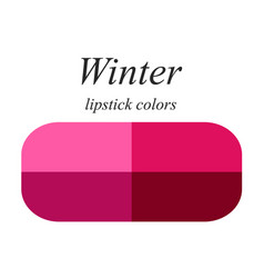 Lipstick colors for winter type vector