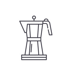 making coffee line icon concept making coffee vector image