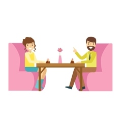 Man And Woman On Romantic Date Smiling Person vector image
