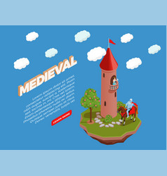 Medieval isometric composition vector