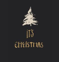 merry christmas christmas calligraphy vector image