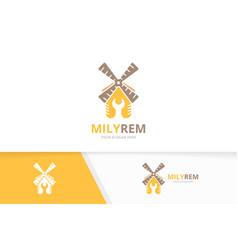Mill and repair logo combination farm vector