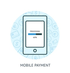 Mobile payment concept vector image