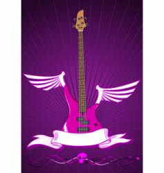 modern bass guitar vector image