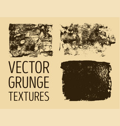 Monochrome abstract hand drawn grunge textures vector