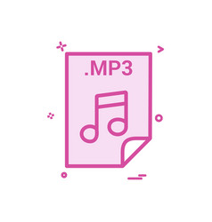 Mp3 application download file files format icon vector