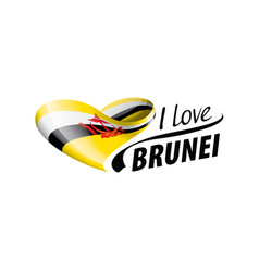 National flag brunei in shape a vector