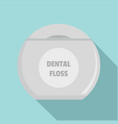 new dental floss icon flat style vector image