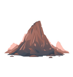 Old brown mountain isolated vector