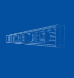 outline building level vector image
