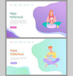 parent caring happy motherhood newborn vector image