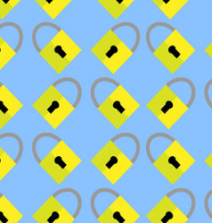 Pattern padlock background vector