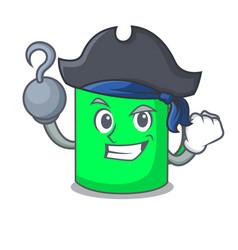 Pirate mug character cartoon style vector