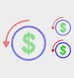 Pixel undo payment icons vector