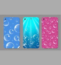 purple sparkling phone case blue and pink vector image