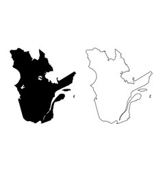 Quebec province and territory canada black and vector