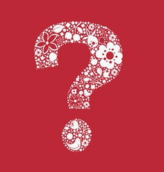 Question floral one color mark vector image