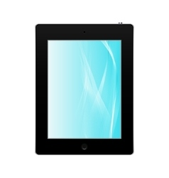 Realistic black tablet pc computer isolated vector