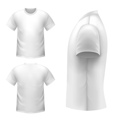Realistic white t-shirt vector