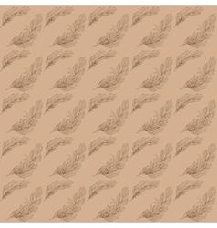 Rosemary kraft pattern vector