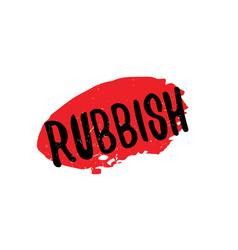 Rubbish rubber stamp vector
