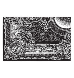Rug is a type of floor covering vintage engraving vector