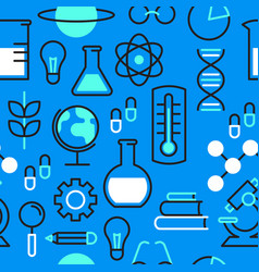 science education outline icon seamless pattern vector image
