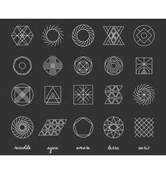 Set of geometric hipster shapes455 vector