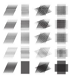 Set of various pencil strokes halftone vector