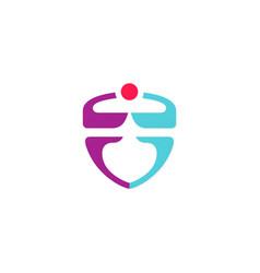 shield color logo vector image
