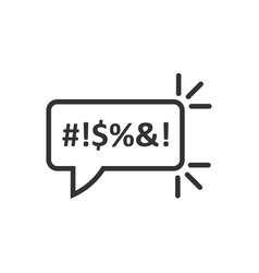 Shout speech bubble icon in flat style complain vector
