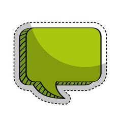 speech bubble isolated icon vector image