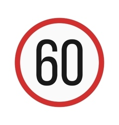 Speed limit 60 vector image