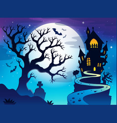 Spooky tree theme image 7 vector