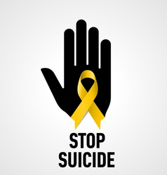 Stop Suicide sign vector image
