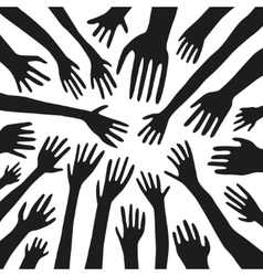 stretching hands vector image