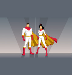 superhero couple asian vector image