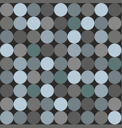 tile pattern with blue and grey polka dots vector image