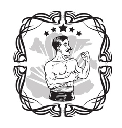 Vintage Boxer Tattoo vector