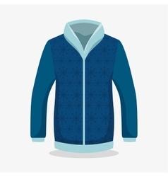 winter season sweater icon vector image