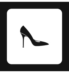 Womens shoe with high heels icon simple style vector