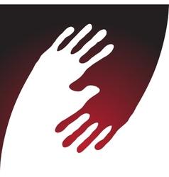 yin yang hand print vector image