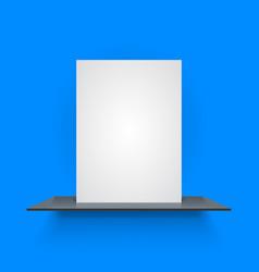 Book shelf on light blue background vector