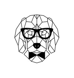 Dog beagle in glasses geometric style vector