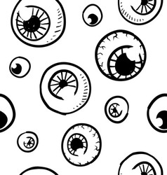 doodle eye eyeball pattern seamless background vector image vector image