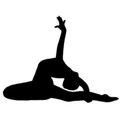 High quality original girl gymnastic doing stretch vector image