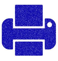 Printer icon grunge watermark vector