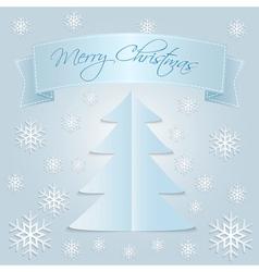 Snow Merry Christmas vector image